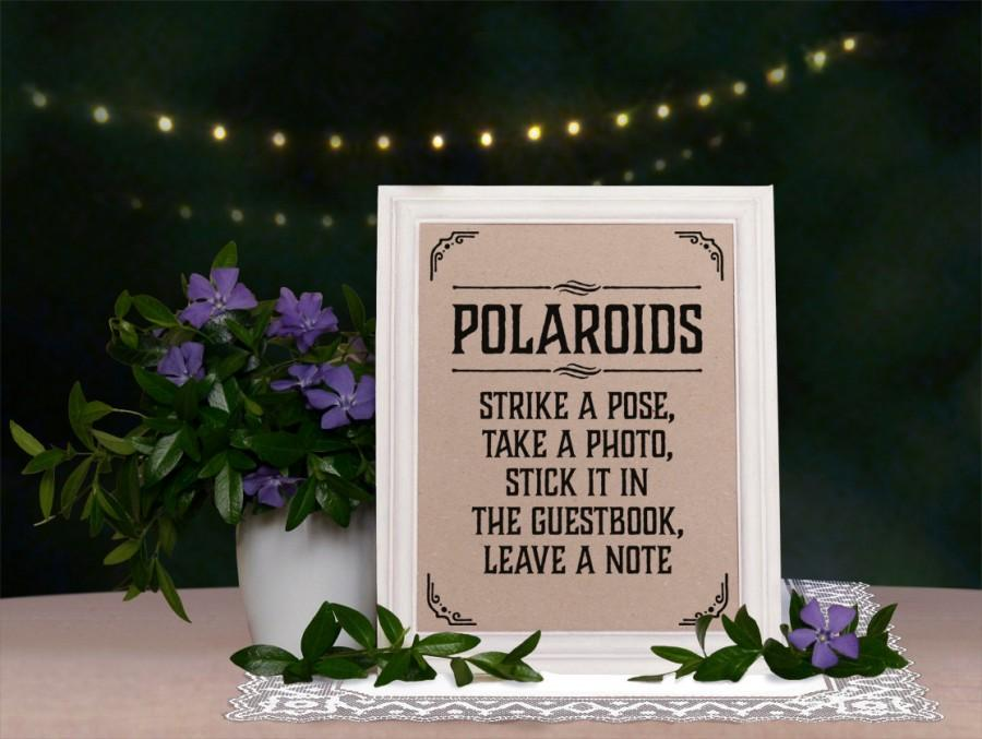 wedding photobooth sign strike a pose rustic wedding sign wedding reception decor diy kraft. Black Bedroom Furniture Sets. Home Design Ideas