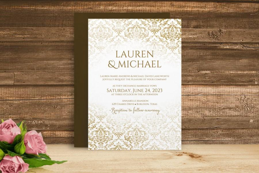 DiY Wedding Invitation Template - INSTANT Download- EDITABLE TEXT ...