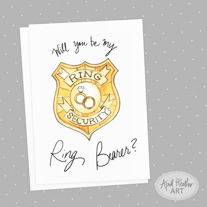Ring Bearer Will You Be My Ring Bearer Head Of Ring Security Badge - Ring security badge template