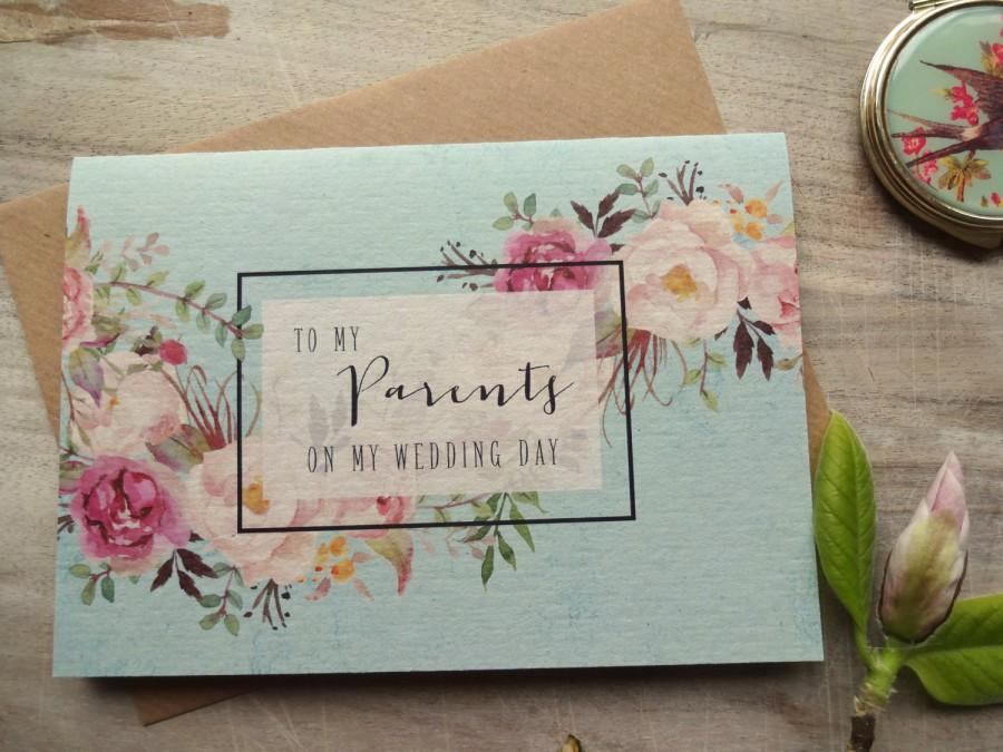 Wedding Day Gifts For Parents Online : my Wedding Day Card. 5x7. To My Parents Card Wedding Card Bride Gift ...