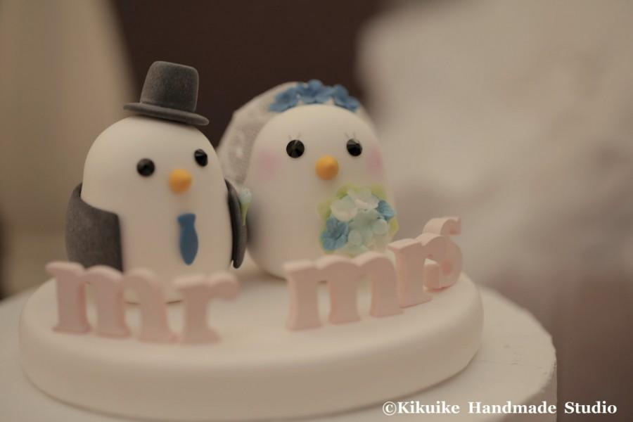 Hochzeit - Love birds  Wedding Cake Topper (K345)