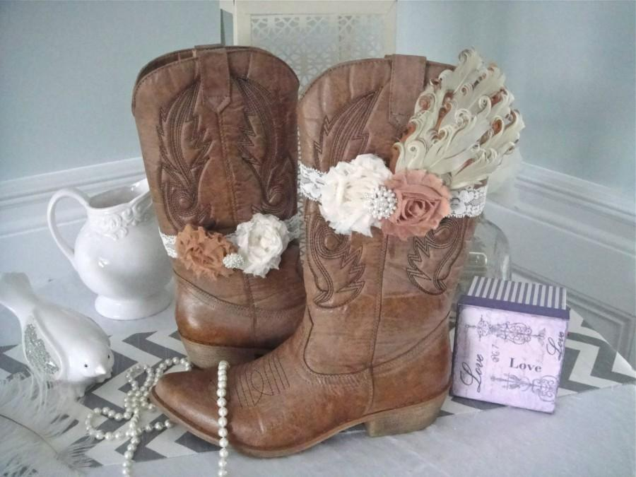 Shabby Chic Boot Band Boot Accessories Cowgirl Boot Band