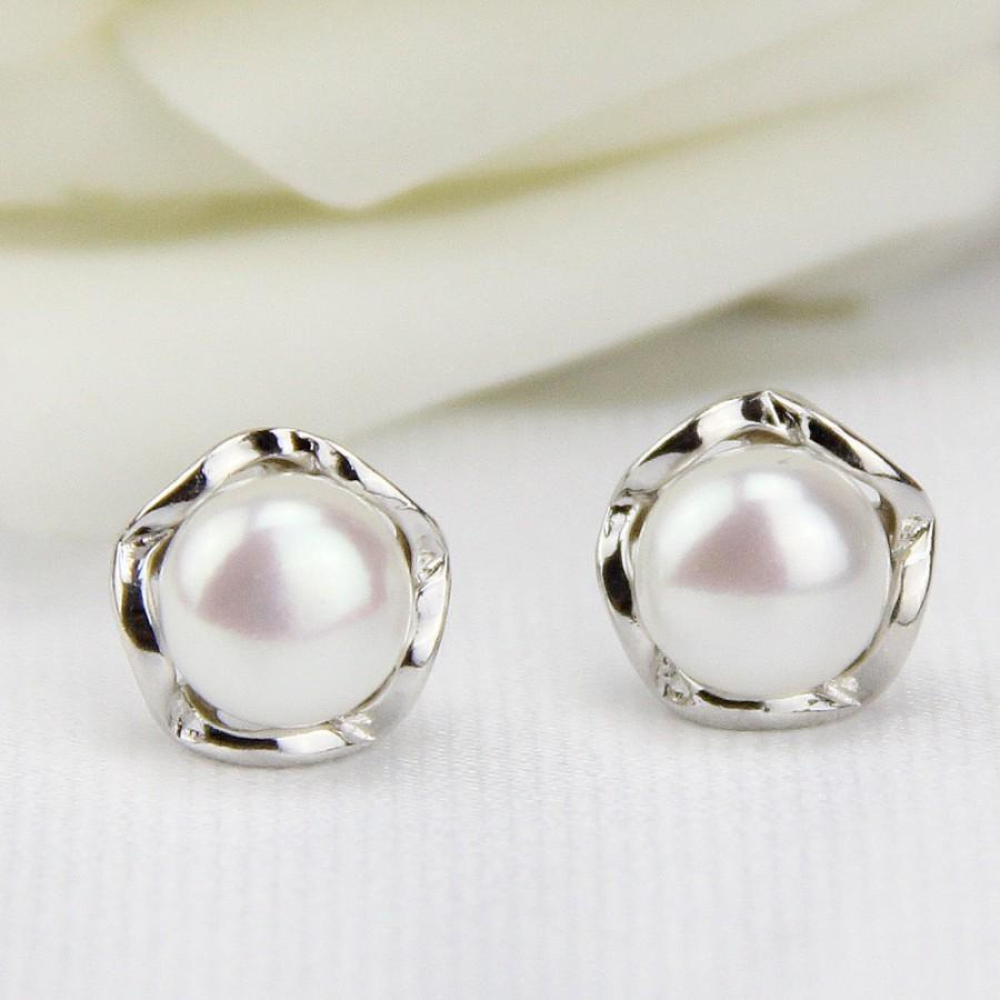 Free Shipping Jewelry Pearl Stud Earrings Earings Freshwater Earring Er026