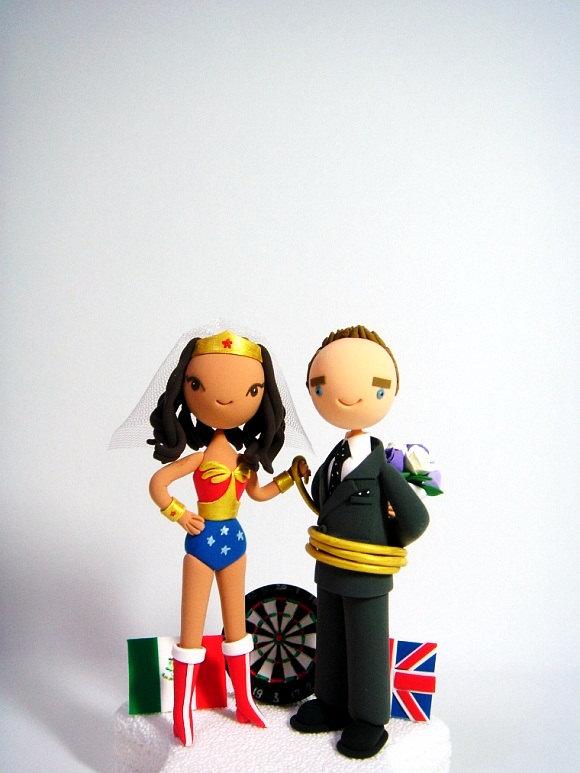 Hochzeit - Perfect wedding - custom wedding cake topper.