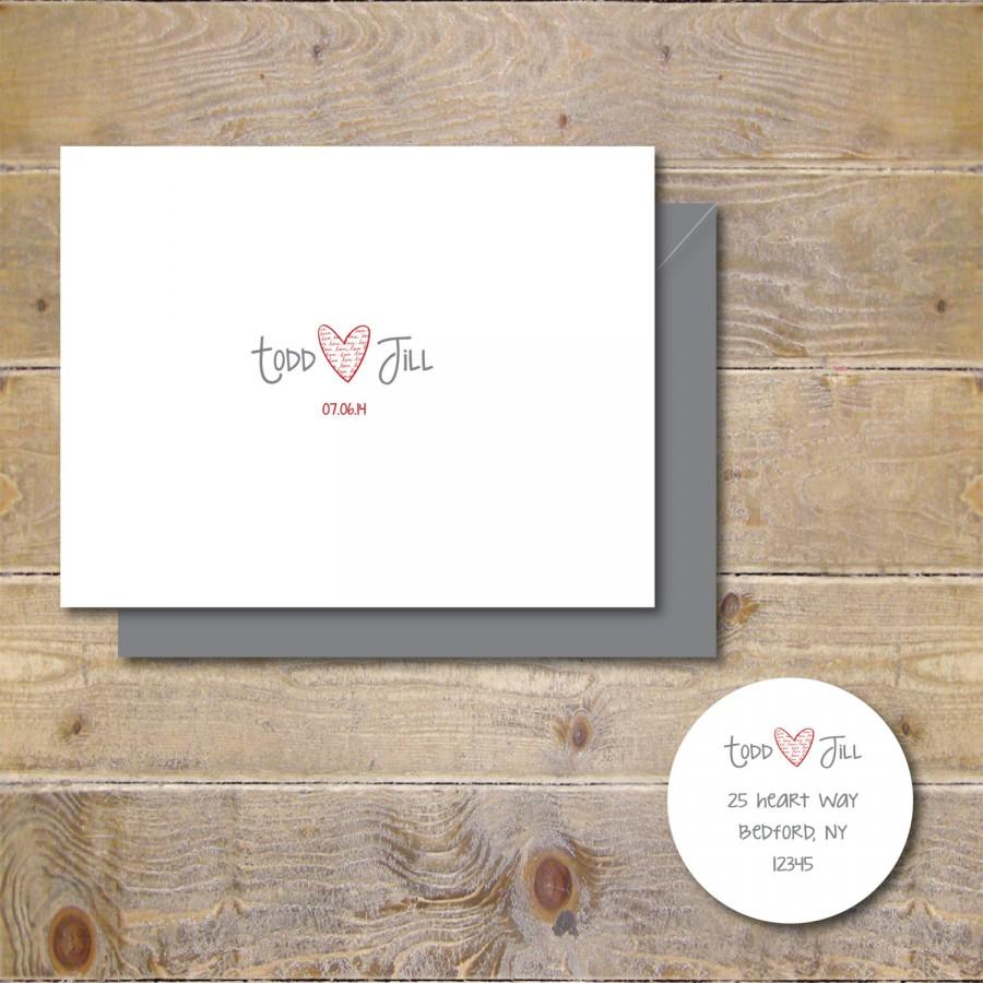 Wedding Thank You Cards Personalized Wedding Cards Bridal Shower