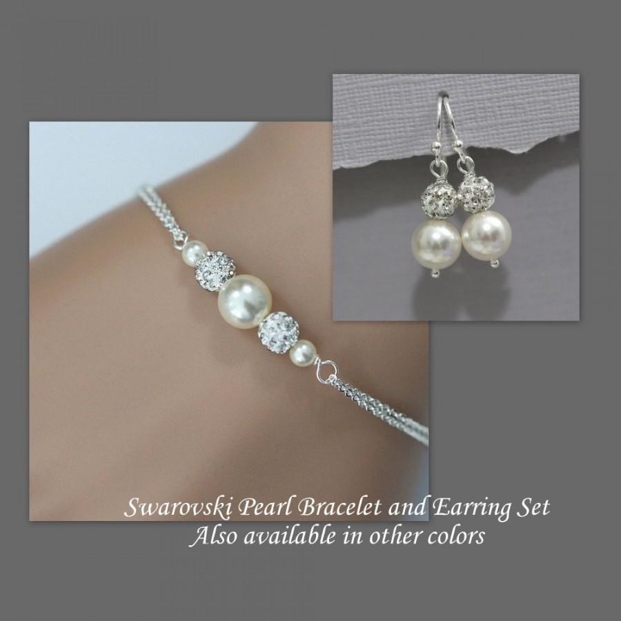 Ivory Pearl Bridesmaid Bracelet Set Jewelry