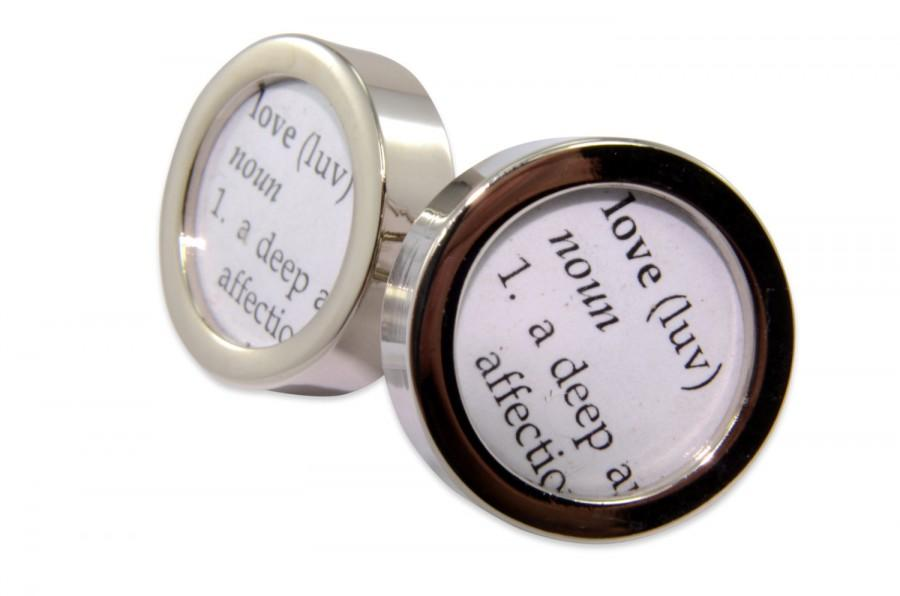 Mariage - Dictionary Definition of LOVE Cuff links by Gwen DELICIOUS Jewelry Design