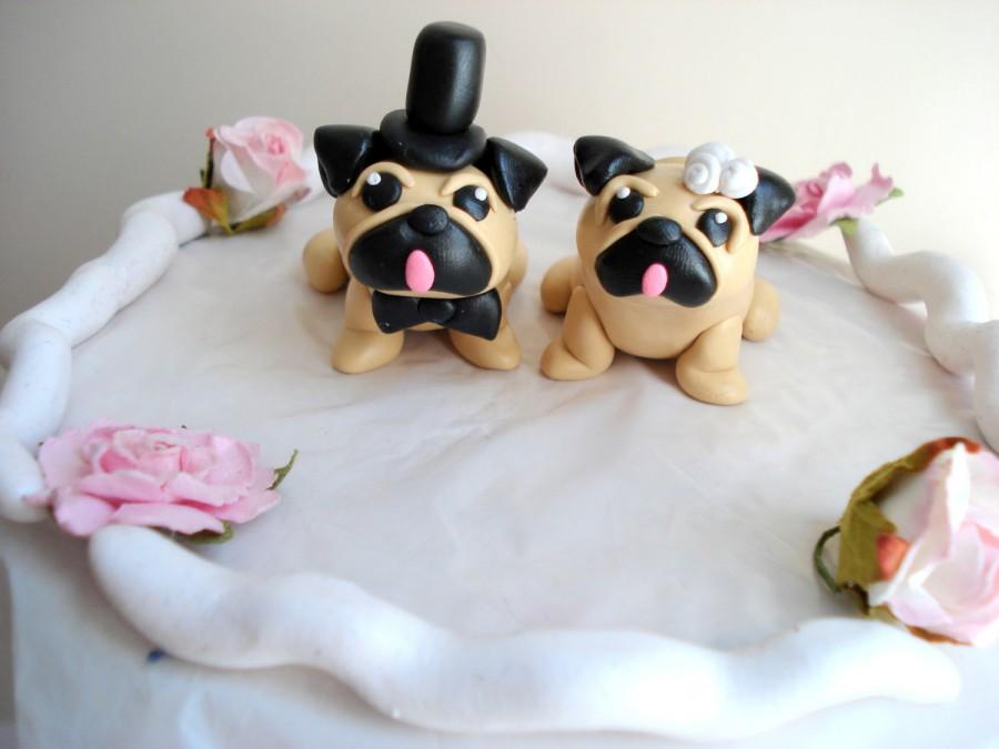 Pug Cake Toppers Wedding Keepsake Cake Decoration Wedding