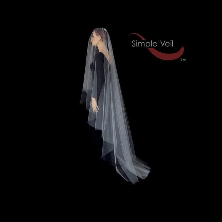 Mariage - 110 inch Drop Veil, Cut Edge