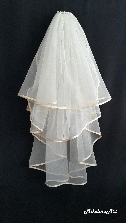 Mariage - Ivory Wedding Veil, Three Layers