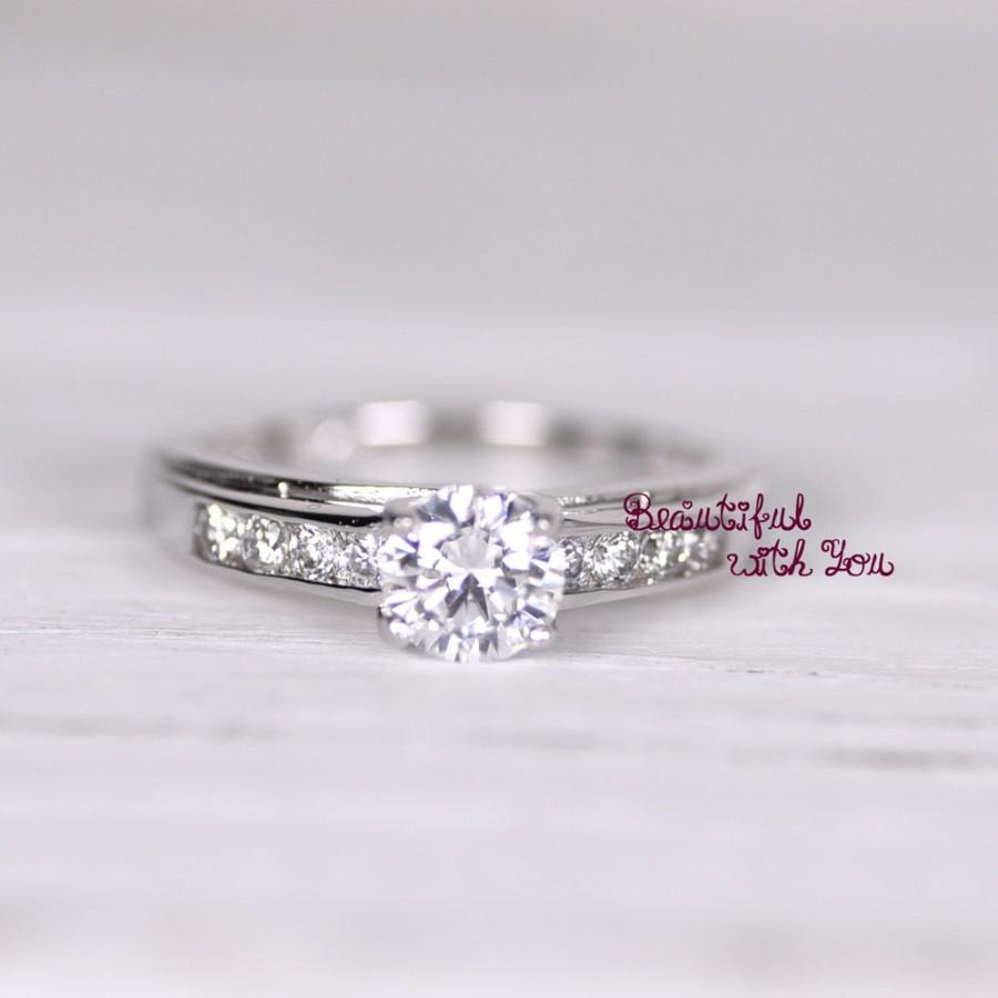 Womens Engagement Ring Promise Ring For Her Simulated Diamond ...