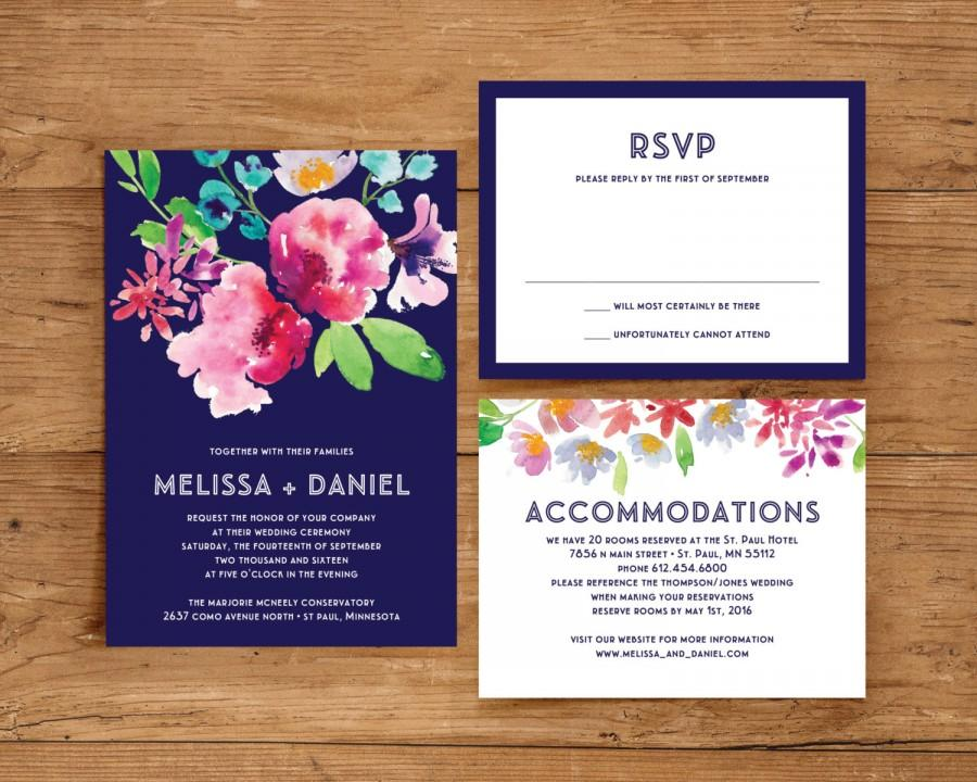 Mariage - Printable Wedding Invitation Template Set