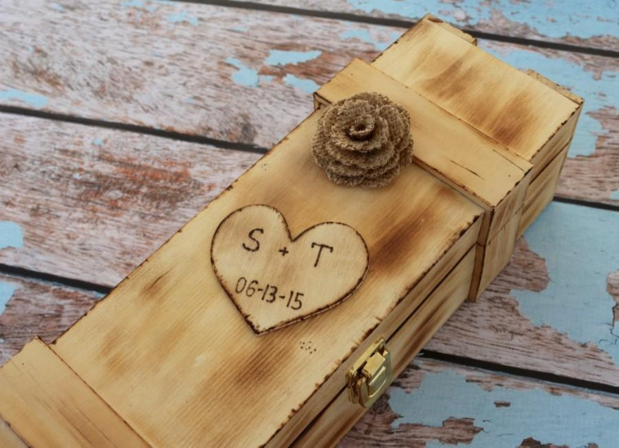 Wine Ceremonypersonalized Wine Box Wood Wedding Birthday Gift