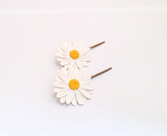 Daisies white hairpin big daisies hairpin daisies hair clip daisies white hairpin big daisies hairpin daisies hair clip summer hair accessories white flower hair pin wedding hair flower set mightylinksfo