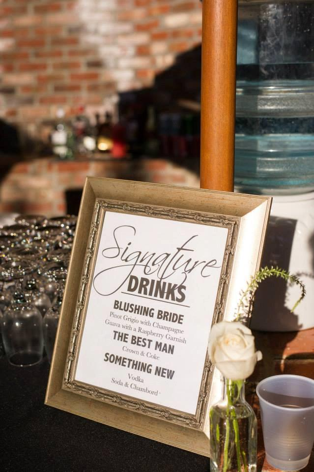 Свадьба - Wedding Signature Drink Sign