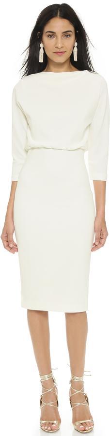 Mariage - Badgley Mischka Collection Long Sleeve Dress