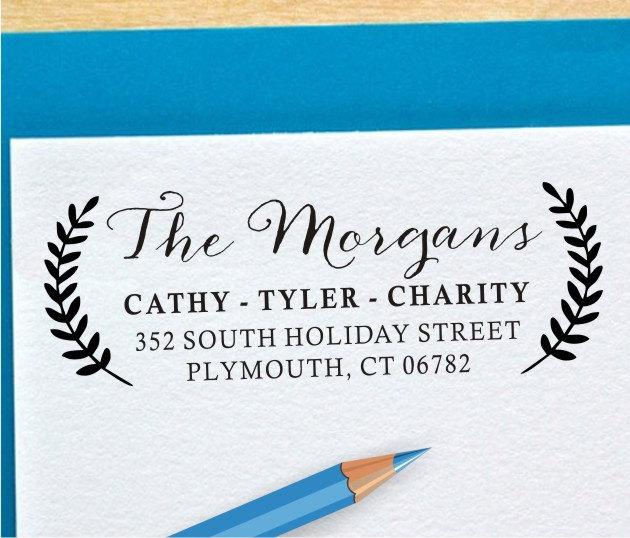Mariage - Return Address Stamp - Personalized Stamp - Self Inking or Wood Address Stamp (059)