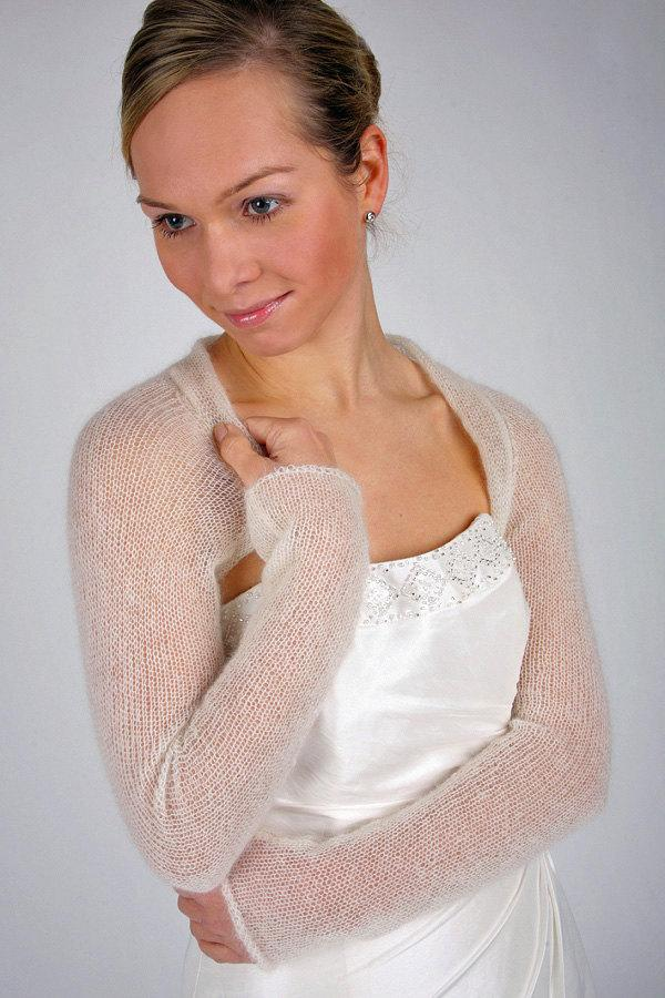 زفاف - Bridal Shrug Wedding Bolero knit Jackett for your wedding dress or evening dress made in Germany