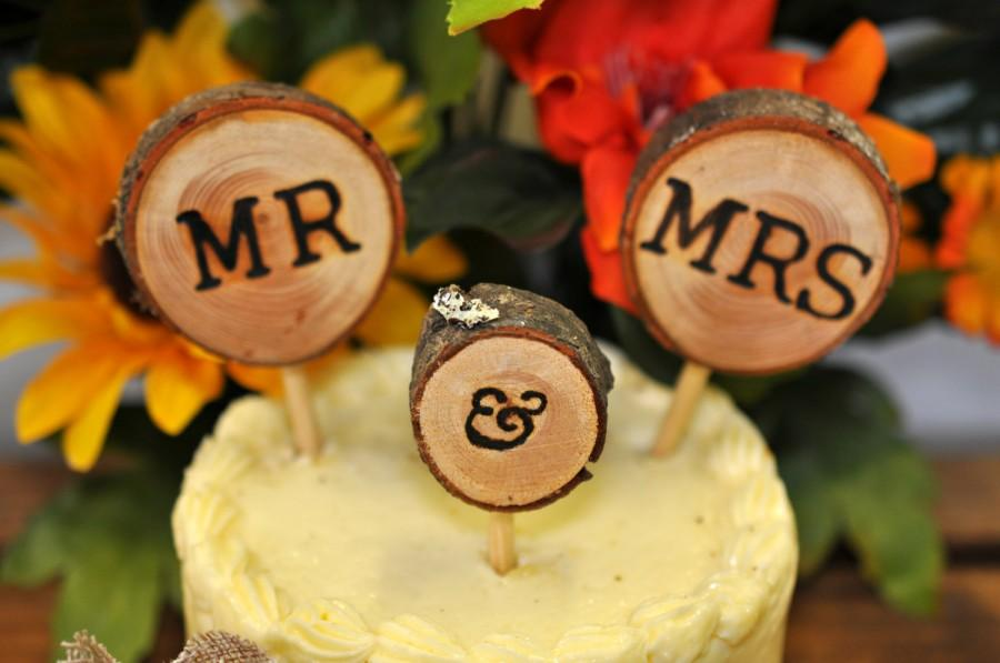 Mariage - wedding cake topper, mr and mrs wedding cake topper, cake topper, rustic cake topper, wedding cake toppers