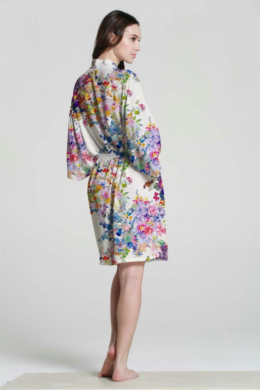 I03308 Bridesmaid Personalized Robes Cotton Kimono Robe Monogrammed ...