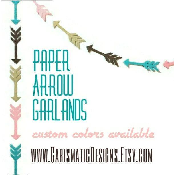Hochzeit - Arrow Garland, Tribal, Birthday Garland, Baby Shower, Bridal Shower