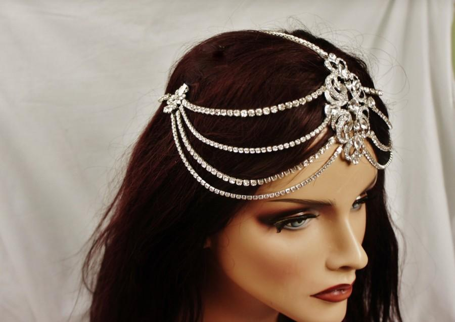Mariage - Bridal Rhinestone Headpiece, Art Deco Rhinestone Headband