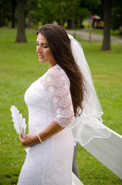 Wedding - Cascade Satin Ribbon Wedding Veil