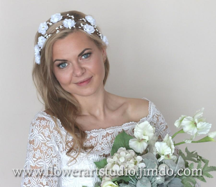 White Or Ivory Bridal Flower Crown 6ef99bc34d7