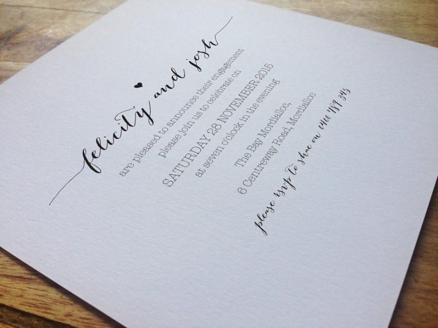 Hochzeit - Engagement Party Invitation, Engagement Party Invite, Engagement Dinner, DIY Printable