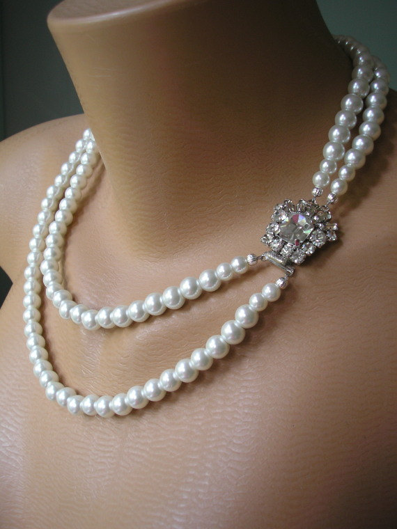 image by decor and wedding necklace williams inspiration accessories blog weddings jewelry pearl junebug layered pearls stephanie bridal
