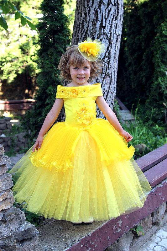 Yellow Childrens Bridesmaid Dresses Uk 75