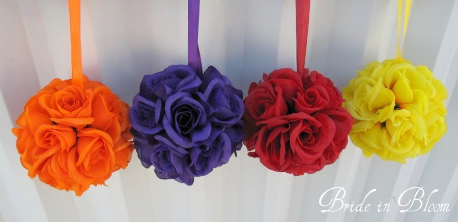 Flower Girl Pomander Kissing Ball Flower Ball Wedding Decorations ...