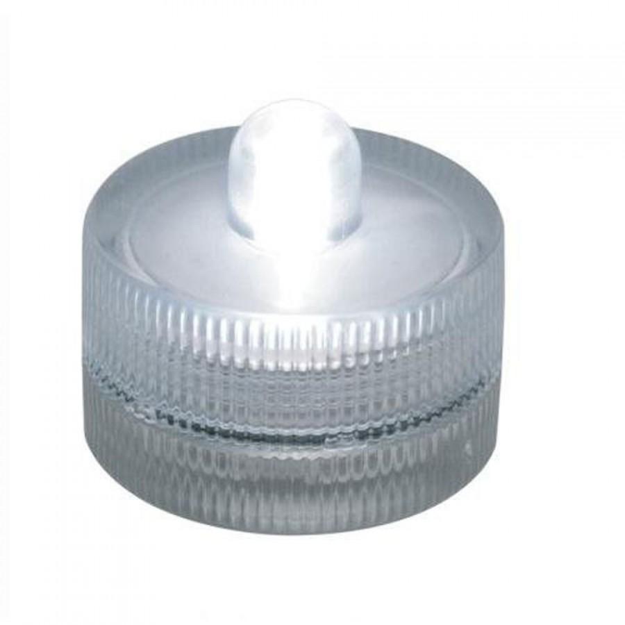 Hochzeit - 10 Waterproof Wedding Underwater Battery Sub LED White Lights
