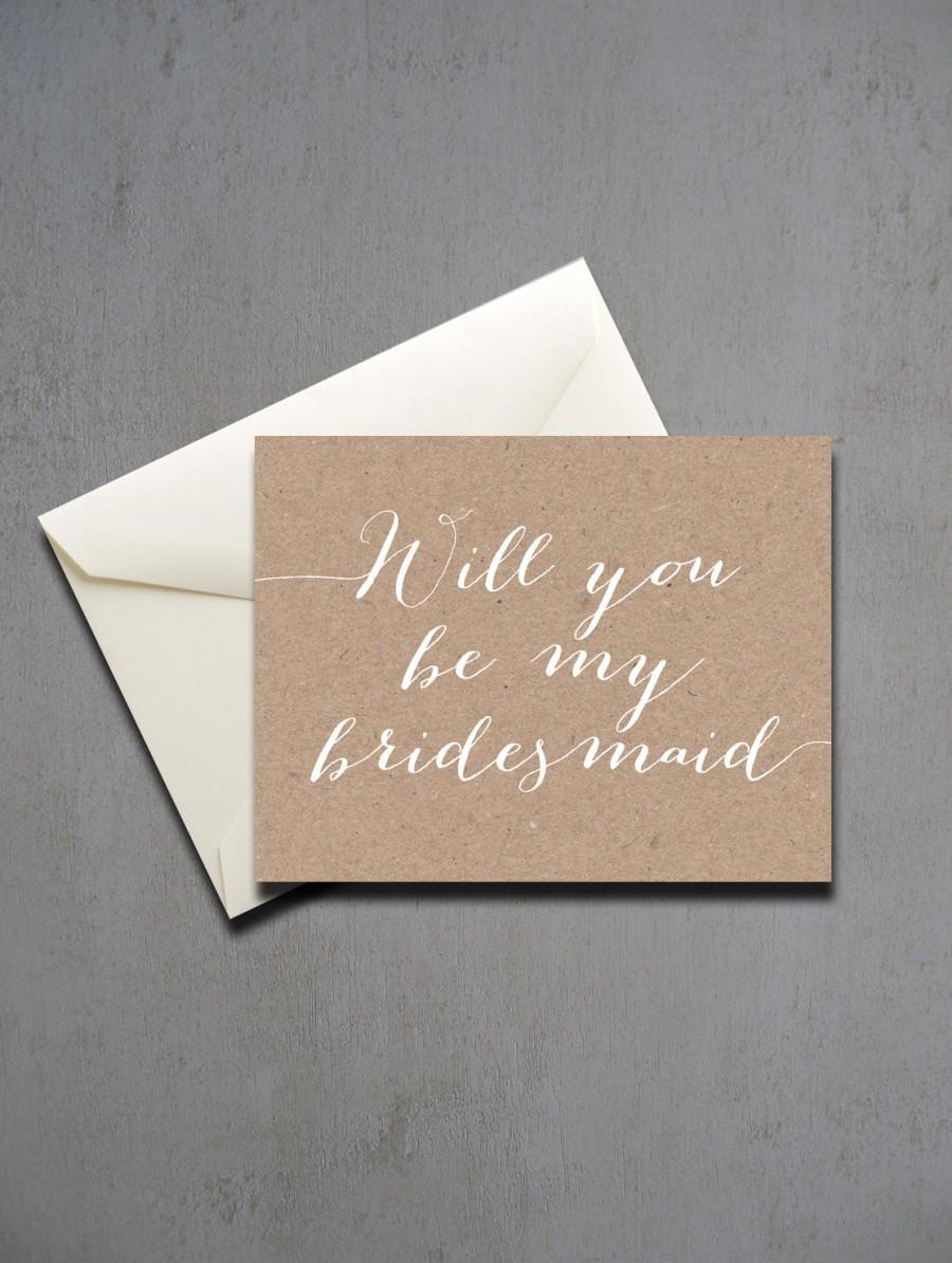 kraft paper will you be my bridesmaid will you be my bridesmaid