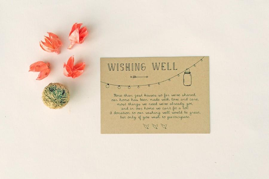 ANNABELLE: Wedding Wishing Well Card - Rustic Mason Jar Lights - DIY ...