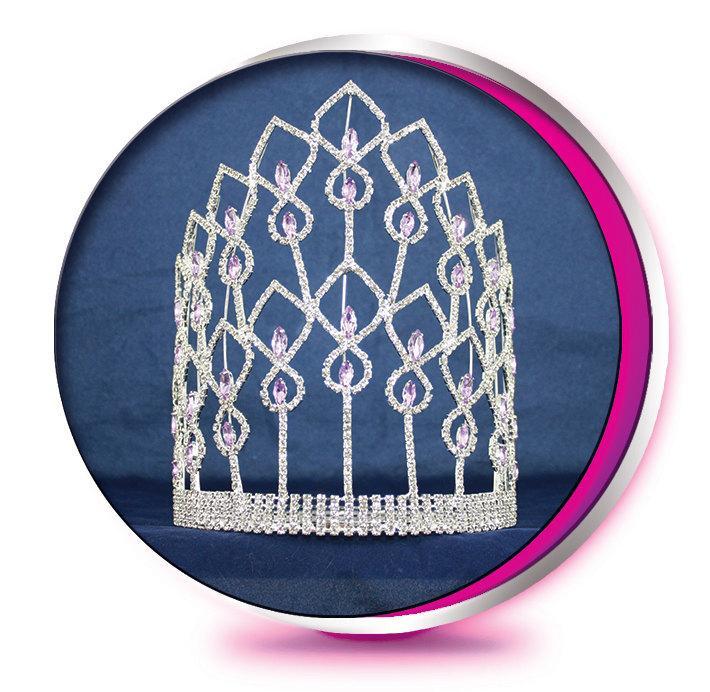 Mariage - The Grand Purple Phoenix - Rhinestone Tiara - Pageant, Wedding, Prom, Homecoming, or Bridesmaid Crown