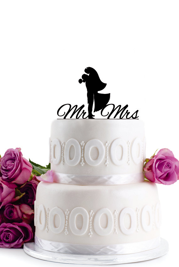 Hochzeit - Wedding Cake Topper - Wedding Decoration - Cake Decor - Monogram Cake Topper - Anniversary Cake Topper -Bride & Groom Cake Topper