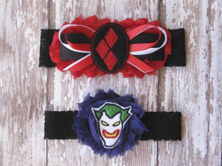 Hochzeit - Harley Quinn and Joker Garter Set