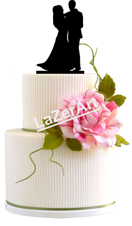 Свадьба - Wedding Cake Topper Dancing Silhouette Groom and Bride