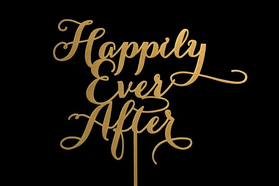Wedding - Sale Happily Ever After Wedding Cake Topper