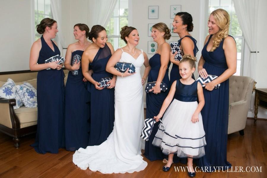 For Multiple Clutch Purse Orders Your Choice Wedding Bridesmaid Gift Navy Blue Nautical Bridal