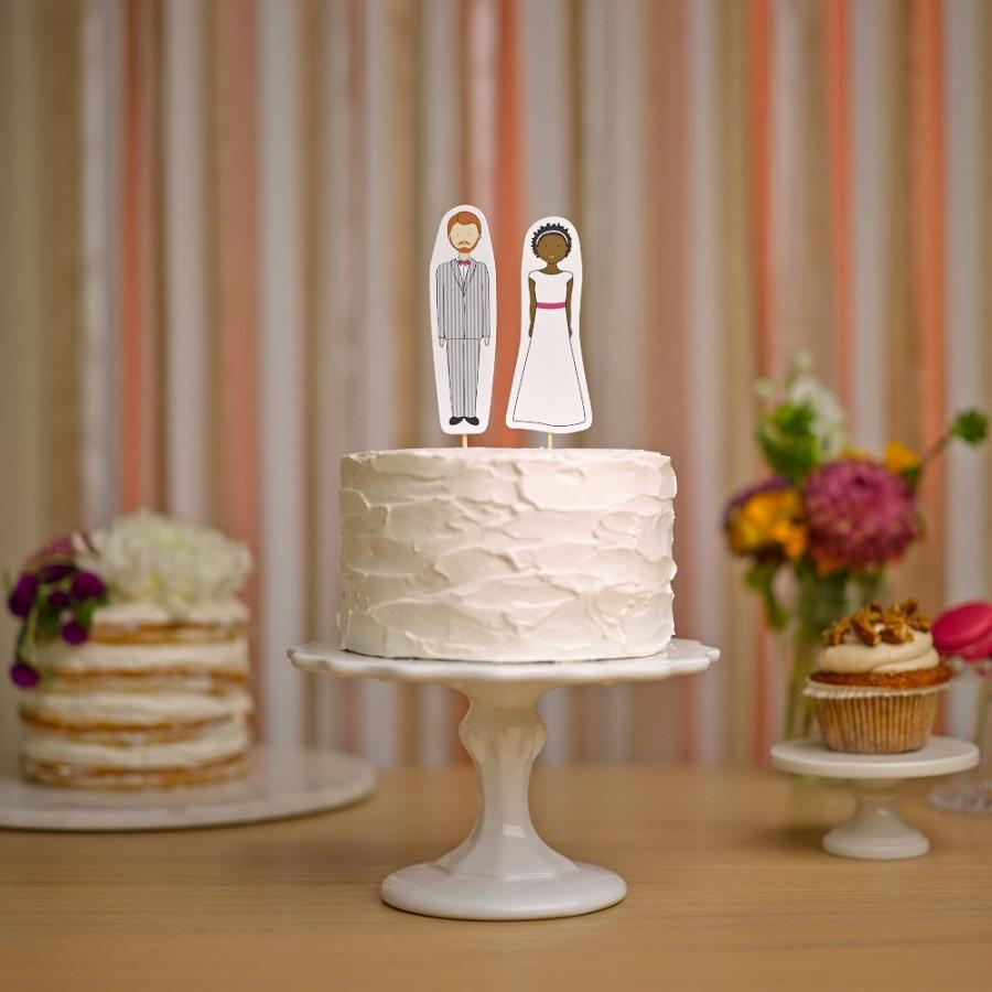 Mariage - Bride and Groom Wedding Cake Topper