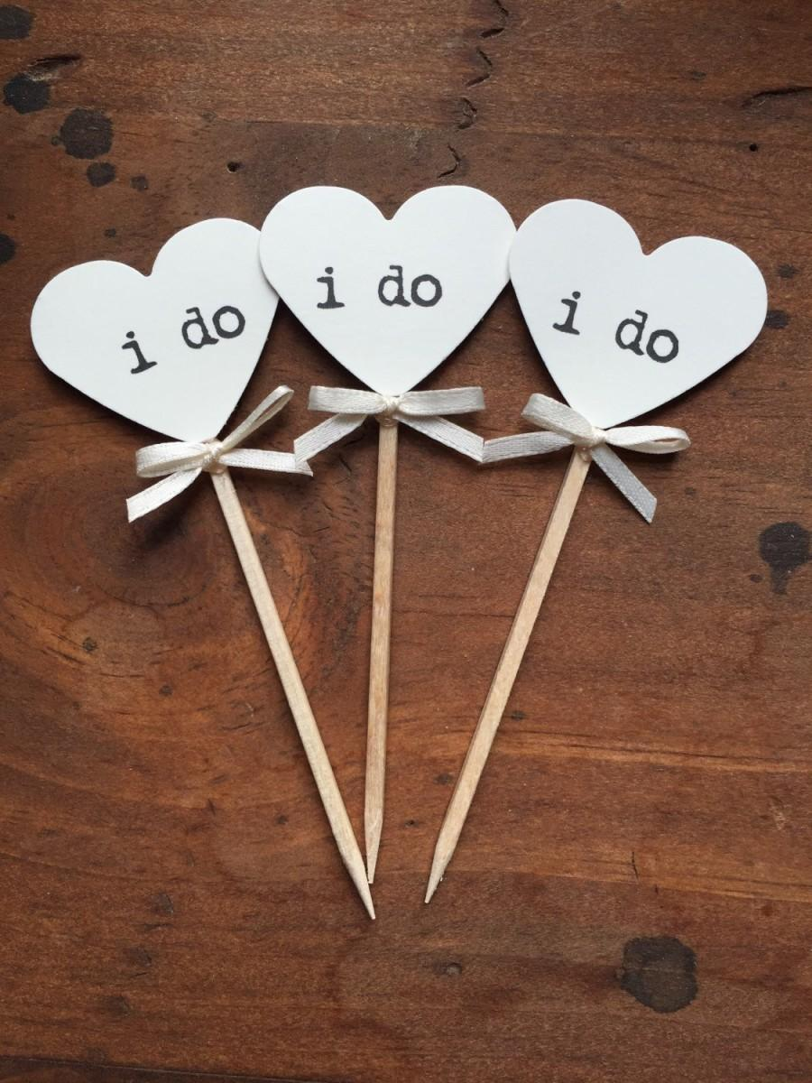 Mariage - Heart I Do Cupcake Toppers