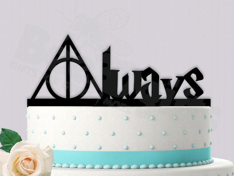 Mariage - Harry Potter Deathly Hallows Cake Topper