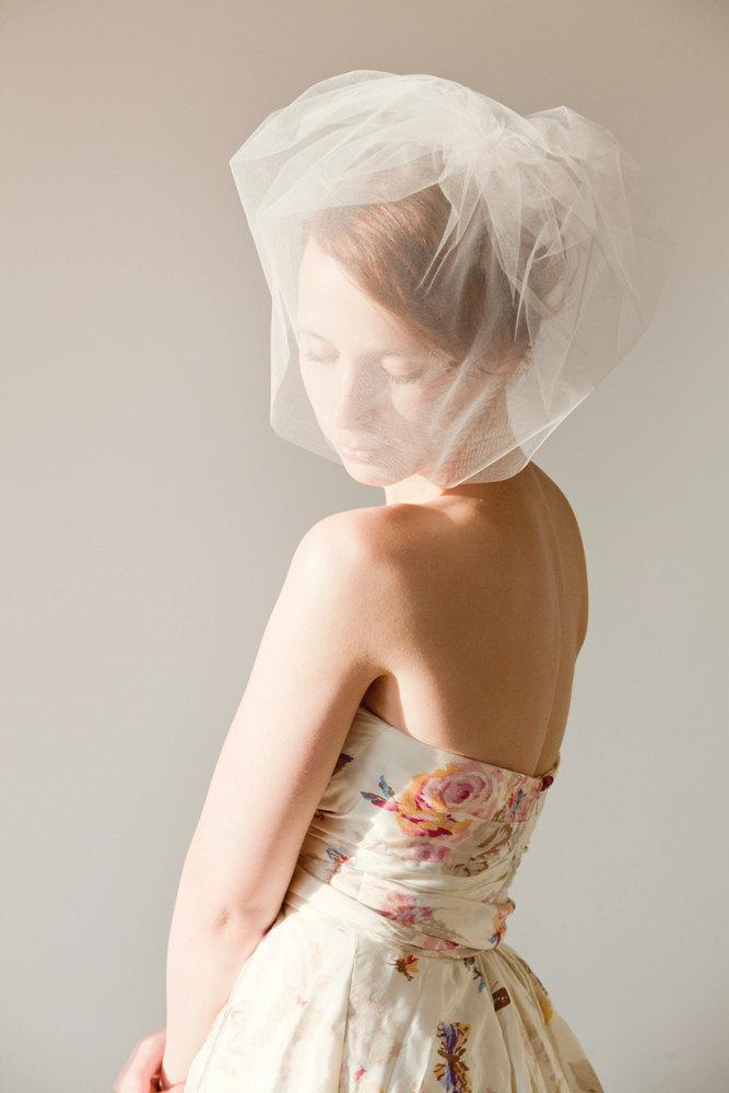 Mariage - Touch of Sweetness - Double Layered Light Pink Blusher Veil