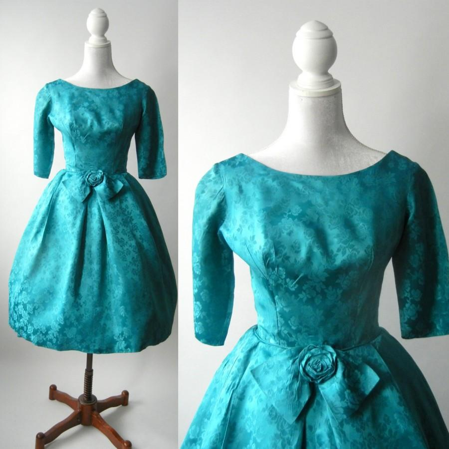 Teal Retro Bridesmaid Dresses