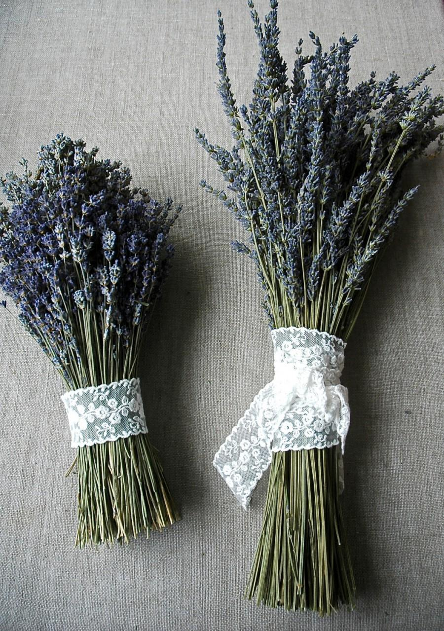 Hochzeit - Custom Brides Bouquet Choose a Double Bouquet of Either French or English Lavender