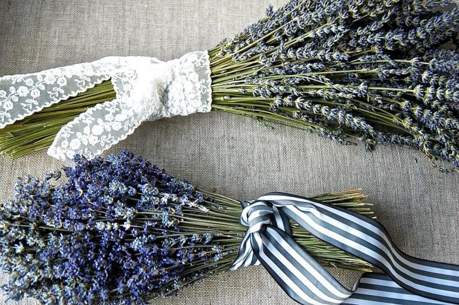 Hochzeit - Custom Sampler Bouquets Double Bouquet of Both French and English Lavender