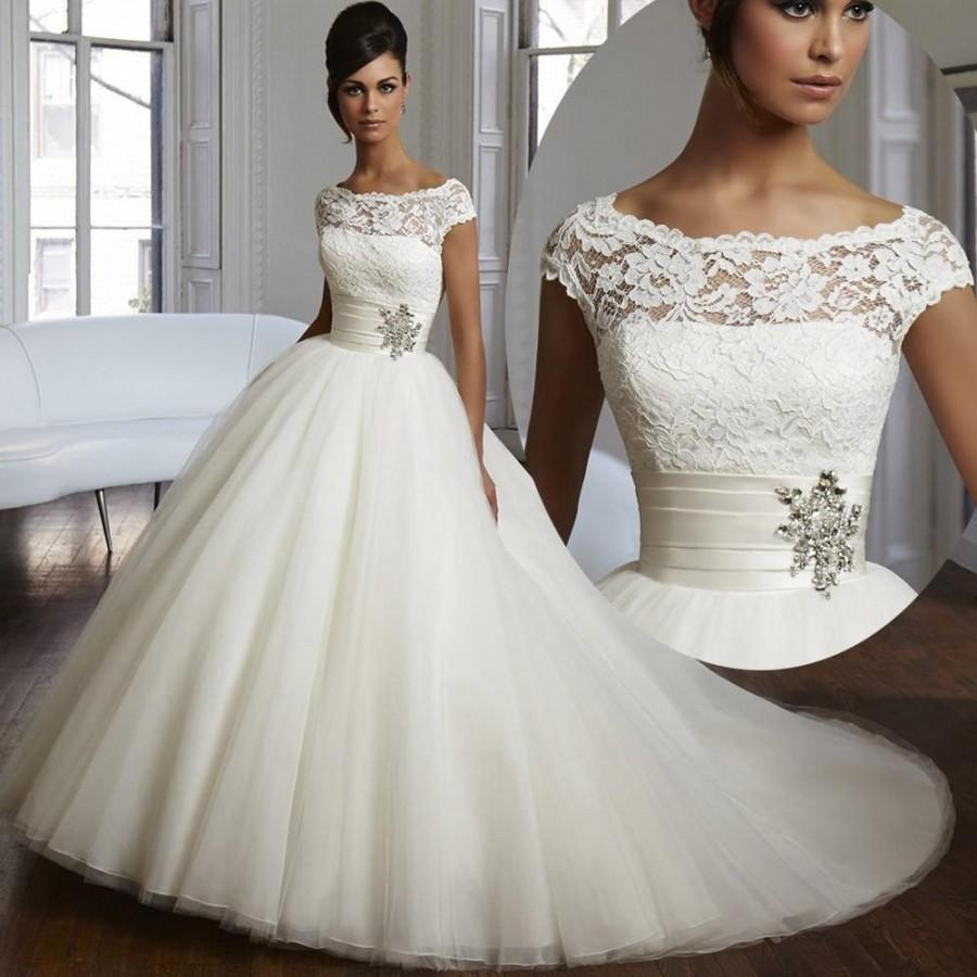 2016 couture ball gown elegant wedding dress lace tulle for Lace wedding dresses plus size