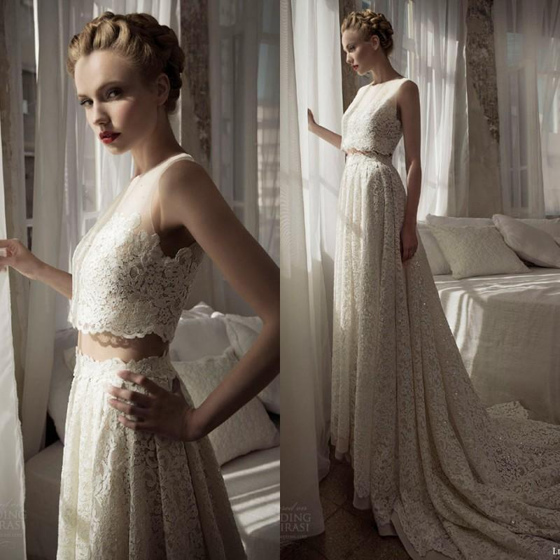 2016 Hot Two Pieces Wedding Dresses Lihi Hod A Line Floor Length